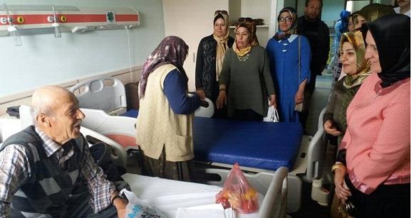 Acil hastalara yardım vakfı hanım üyelerinden anlamlı ziyaret!