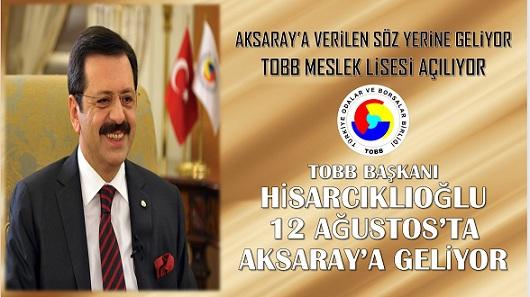 Rifat Hisarcıklıoğlu Aksaray'a Geliyor