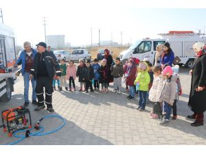 Aksaray'da Anasınıfı Öğrencilere Afet Eğitimi