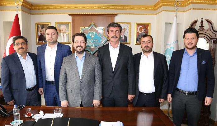 Müteahhitler Birliği Yönetim Kurulundan Başkan Yazgı'ya Ziyaret