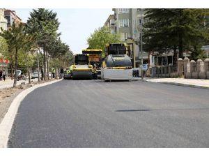 Alt Yapısı Biten Ebulfeyz Elçibey Caddesinde Asfalt Çalışması Başladı