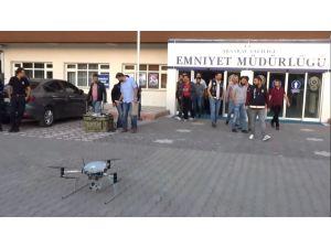 Aksaray'da drone destekli uyuşturucu operasyonu: 10 gözaltı
