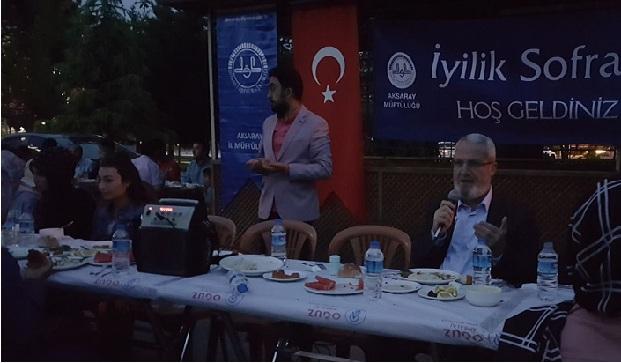 Aksaray'da iyilik sofrası iftar programı