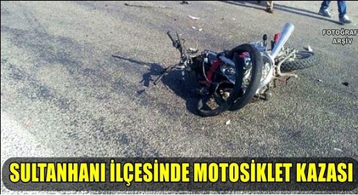 Sultanhanı'nda motosiklet kazası: 2 yaralı