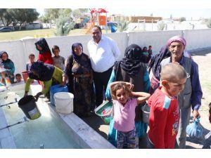Aksaray'da Urfalı tarım işçileri suya kavuştu