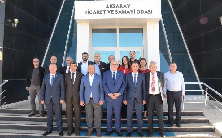 Müsavat Dervişoğlu'ndan  ATSO'YA ziyaret