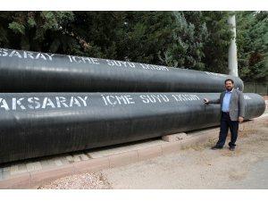 Başkan Yazgı içme suyu isale hattı çalışmalarını inceledi