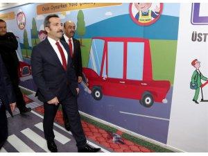 Aksaray'da çocuklar için trafik eğitimi koridoru oluşturuldu