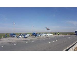 Aksaray'da jandarmadan helikopter destekli uygulama