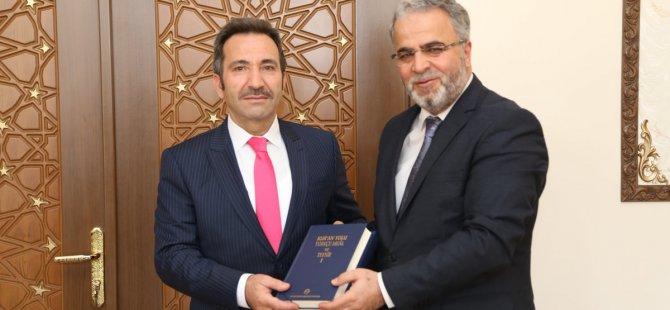 Diyanet İşleri Başkan Yardımcısı Dr.Burhan İşleyen Vali Mantı'ya ziyarette bulundu