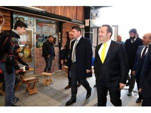 Vali Mantı ve Başkan Dinçer esnafları ziyaret etti