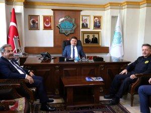 Aksaray POMEM'den Başkan  Dinçer'e hayırlı olsun ziyareti