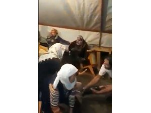 Aksaray'da düğün çadırında sel paniği
