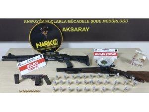 Aksaray'da polisin operasyonunda uyuşturucu ve silah ele geçirildi
