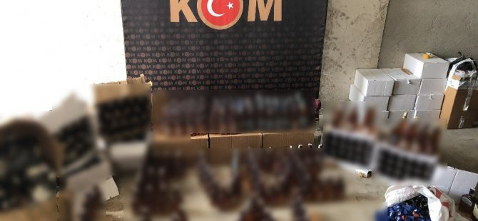 Aksaray'da 285 şişe kaçak içki ele geçirildi