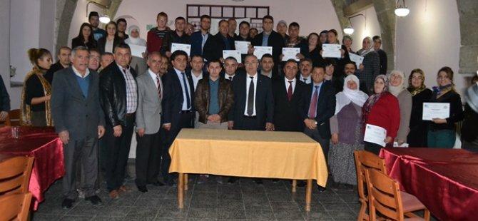 Güzelyurt'ta Girişimcilik Kursiyerlerine Sertifikaları verildi