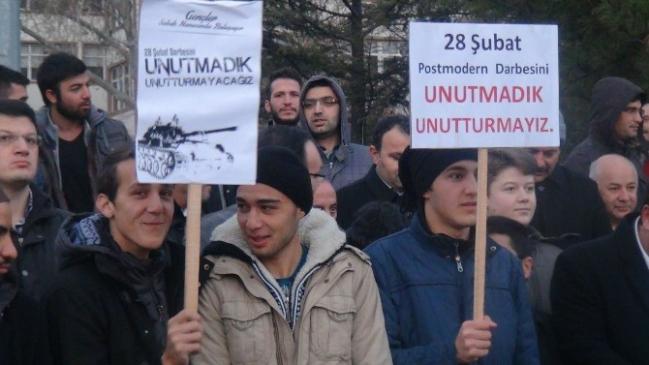 Aksaray'da 28 Şubat protesto edildi