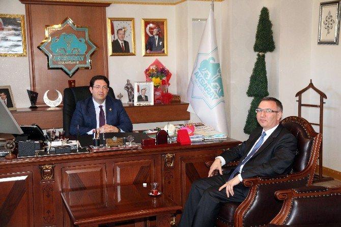PMYO Müdürü Cangül'den Başkan Yazgı'ya Ziyaret