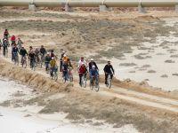 Eskil'de Birinci Tuz Gölü Bisiklet Şenliği Gerçekleşti