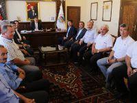 Yazgı ve başkanlardan Vali Pekmez'e ziyaret
