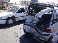Aksaray'da zincirleme trafik kazası: 4 yaralı