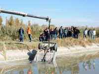 Aksaray'da çalıntı araç, atık kanalında bulundu