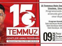15 Temuz Şehitleri Aksaray'da  Anılacak