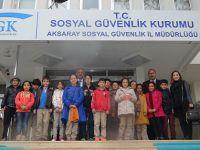 Öğrencilerden Aksaray SGK İl Müdürlüğüne Ziyaret