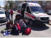 Aksaray'da Otomobil Yayaya Çarptı