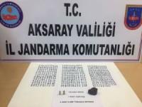 Aksaray'da Jandarmadan Tarihi Eser Operasyonu