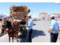 Aksaray'da At Arabalarına Yönelik Uygulamalar Sürüyor