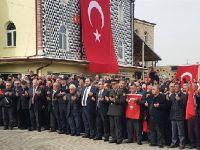 Sarıyahşi'de Mehmetçiğe destek yürüyüşü