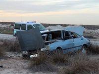 Aksaray'da Otomobil Şarampole Düştü: 2 Yaralı