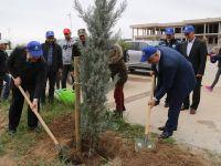 Aksaray'da 10 bin fidan toprakla buluştu