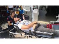 Aksaray'da elektrik akımına kapılan genç ağır yaralandı