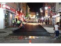 Aksaray Belediyesi bir gecede yolları asfaltladı