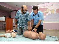 Aksaray Belediyesi personeline uygulamalı 'Temel Yaşam Desteği' eğitimi