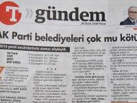 Türkiye Gazetesi Yazarı'ndan Başkan Yazgı'yaBüyük Övgü
