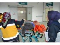 Beton mikserinin çarptığı yaşlı adam ağır yaralandı
