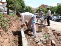 Aksaray Belediyesi yol ve kaldırım çalışmalarına devam ediyor