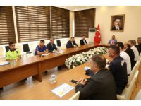 Aksaray'da trafik değerlendirme toplantısı