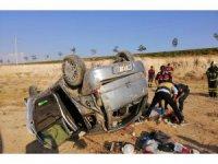 Aksaray'da otomobil takla attı: 1 ölü, 3 yaralı