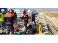 Kanalizasyon kuyusuna düşen kediyi AFAD ekipleri kurtardı