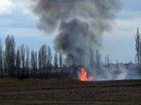 Hastane bölgesindeki anız yangını paniğe neden oldu