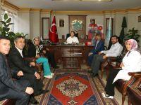Aksaray Berberler ve Kuaförler Odası'ndan Başkan Yazgıya ziyaret