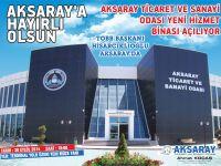 TOBB Başkanı Hisarcıklıoğlu Yarın Aksaray'da