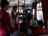 Başkan Yardımcısı Baydar Halk otobüsünde