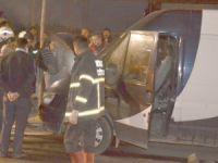 Aksaray'daki minibüste çıkan yangın korkuttu!