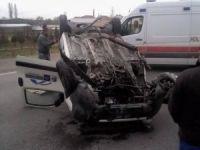 Eşmekaya'da Kaza 1 Yaralı