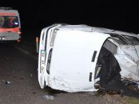 Alkol şişede durduğu gibi durmadı! Yeşilova'da kaza 1 ölü 2 yaralı